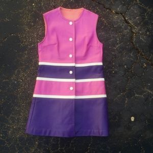 RARE VINTAGE 60s Space Mod Mini Dress